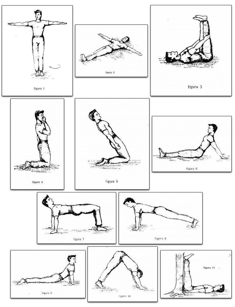 Tabla resumen de los ejercicios de lamasería