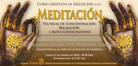 Nuevo Curso Inicial de Meditación · 15 de enero de 2018