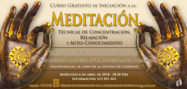 Nuevo Curso Inicial de Meditación · 4 de abril de 2018